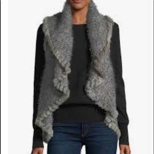 NWT women's rabbit fur vest
